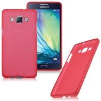 Чехол-накладка на Samsung A7 силикон, красный
