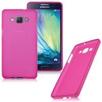 Чехол-накладка на Samsung A5 силикон, розовый