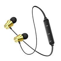 Наушники с микрофоном, Xingdaye, Bluetooth, стерео, магнитные, золотистый