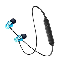 Наушники с микрофоном, Xingdaye, Bluetooth, стерео, магнитные, голубой