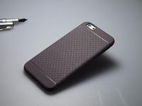 Чехол-накладка на Apple iPhone 6/6S, силикон, матовый, текстура, коричневый