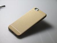 Чехол-накладка на Apple iPhone 6/6S, силикон, матовый, текстура, золотистый