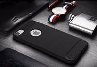 Чехол-накладка на Apple iPhone 7/8 Plus, силикон, противоударный, матовый, DREAMYSOW, черный