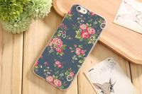 Чехол-накладка на Apple iPhone 6/6S, силикон, flowers 1