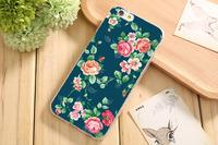 Чехол-накладка на Apple iPhone 6/6S, силикон, flowers 3