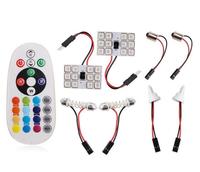 Лампы LED, разл. цоколи, RGB, управление с ПДУ, 12 диодов, 2 шт.
