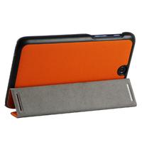 Чехол Smart-cover для Lenovo A3500 кожа, черно-оранжевый