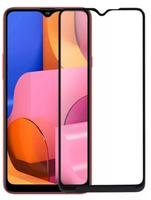 Защитное стекло для Samsung Galaxy A20s (2019) на дисплей, с рамкой, 4D, черный