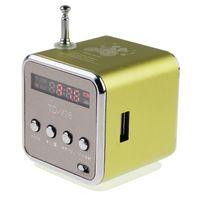 Портативная колонка, TD-V26, FM Radio, microSD, USB, дисплей, зеленый