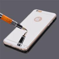 Чехол-накладка на Apple iPhone 4/4S, силикон, зеркальный, серебристый