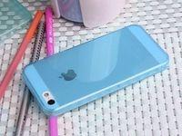 Чехол-накладка на Apple iPhone 4/4S, силикон, глянцевый, синий