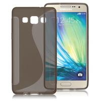 Чехол-накладка на Samsung A3 силикон, S-line, серый