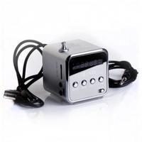 Портативная колонка, TD-V26, FM Radio, microSD, USB, дисплей, серебристый