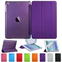 Чехол Smart-cover для Apple iPad mini 1,2,3, полиуретан, фиолетовый