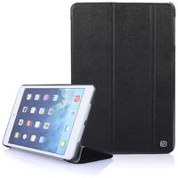 Чехол Smart-cover для Apple iPad mini 1,2,3, полиуретан, лого, текстурированный, черный
