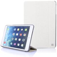 Чехол Smart-cover для Apple iPad mini 1,2,3, полиуретан, текстурированный, белый