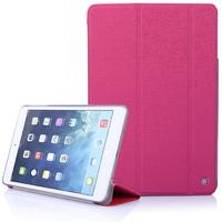 Чехол Smart-cover для Apple iPad mini 1,2,3, полиуретан, текстурированный, розовый