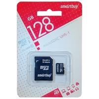 Карта памяти MicroSDHC 128GB Smart Buy, Class 10, UHS-I U3, 70/90MB/s (c SD-адаптером)