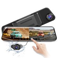 "Видеорегистратор зеркало с камерой заднего вида AZDOME PG17, SHD, 12.0"", GPS(опц.), сенсор, SC2363"