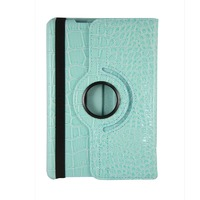 Чехол Smart-cover для Apple iPad mini 1,2,3, полиуретан, змеин.кожа, бирюзовый