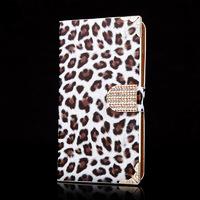 Чехол-книжка на Samsung Note 3 полиуретан, leopard