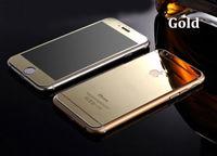 Цветное защитное стекло для Apple iPhone 6/6S комплект, золотистый (УЦЕНКА: трещина)