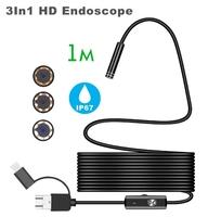 Камера эндоскоп microUSB/USB, Орбита OT-SME14, 8мм, 1м, 1280*720, IP67, с подсветкой