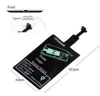 Адаптер для беспроводной зарядки MicroUSB, прямой (type A), 10.2 см*4.6 см, черный