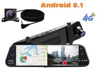 "Видеорегистратор + GPS радар зеркало с камерой заднего вида, A980, Android 8.1, FHD, 10.0"", GPS, 4G,"