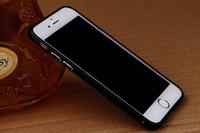 Бампер на Apple iPhone 6/6S, алюминий, черный