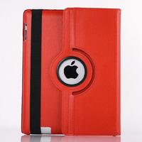 Чехол Smart-cover для Apple iPad 2/3/4, кожа, вращающийся, оранжевый