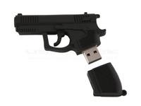 Память USB 2.0 Flash, пистолет, черный, 16 Gb