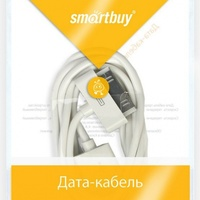 Кабель для iPhone 4/4S, iPad 2,3, iPod, Smartbuy (iK-412), белый, 1м