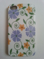 Чехол-накладка на Apple iPhone 4/4S, пластик, flowers #2