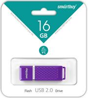 Память USB 2.0 Flash, 16GB, Smart Buy Quartz series Violet