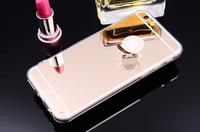 Чехол-накладка на Apple iPhone 7/8/SE2, силикон, зеркальный, золотистый