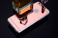 Чехол-накладка на Apple iPhone 7/8, силикон, зеркальный, розовый