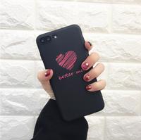 Чехол-накладка на Apple iPhone 6/6S, силикон, better me, черный