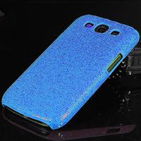 Чехол-накладка на Samsung S3 силикон, блест, синий