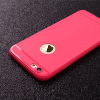 Чехол-накладка на Apple iPhone 5/5S, силикон, с вырез., матовый, красный