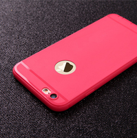 Чехол-накладка на Apple iPhone 6/6S Plus, силикон, с вырез., красный