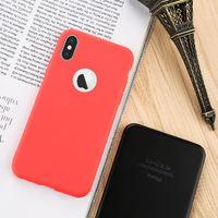 Чехол-накладка на Apple iPhone 6/6S Plus, силикон, матовый, красный