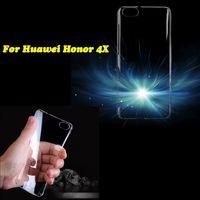 Чехол-накладка для Huawei Honor 4X пластик, прозрачный
