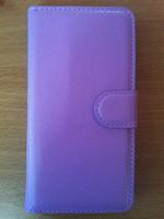 Чехол-книжка на Samsung A3 кожа, фиолетовый