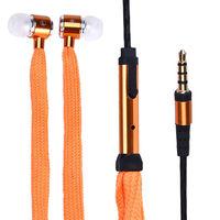 Гарнитура проводная, 3,5мм, Noname, шнурок, оранжевый