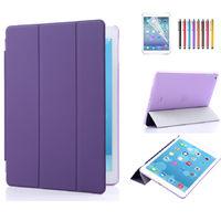 Чехол Smart-cover для Apple iPad 2/3/4, полиуретан, пластик, фиолетовый