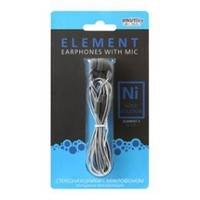 Гарнитура проводная, 3,5мм, Smart Buy ELEMENT: ISOLATION SBH-620, вакуумная, 1.2 м, серый