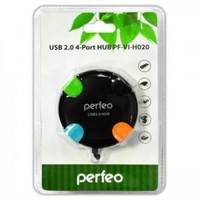 USB-хаб 2.0, Perfeo PF-VI-H020, 4 порта, черный
