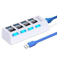 USB-хаб 3.0, Smart Buy SBHA-7304-W, 4 порта, с выключателем портов, белый