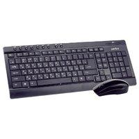 Набор беспроводной клавиатура + мышь, Perfeo PF-226-WL/OP, мультимедиа, полноразмерная, черный